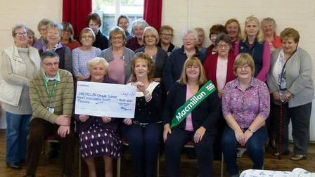 The Crafty Ladies of the Art & Craft Club in Walpole raised £860 for the Macmillan Appeal