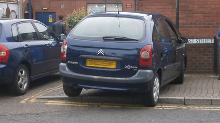 Retired councillor Alan Lay snapped this example of illegal parking in Wisbech this week. He has cal