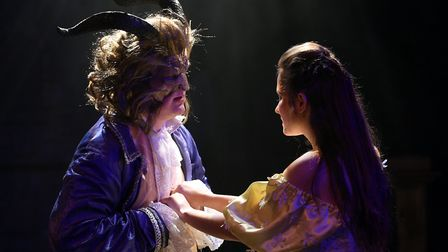 The cast of Beauty and the Beast, which is being performed at the Angles Theatre in Wisbech.