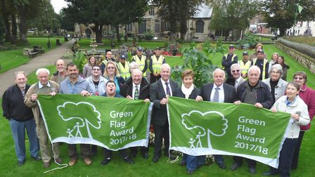 Cllr Peter Murphy, FDC's portfolio holder for environment, and Bob Ollier, the council's parks and o