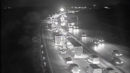 Traffic near Potters Bar following a crash this evening. Picture credit: Highways England.