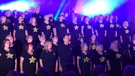 The Wisbech and West Norfolk Rock Choir performing at the Queen Mary Centre in Wisbech. PHOTO: Ian C