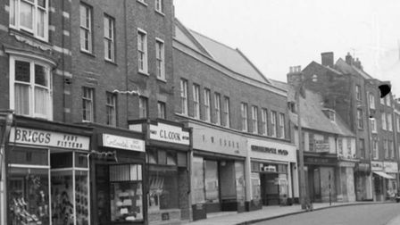 The Gap in Wisbech - 1960s photograph of the High Street showing C.L. Cook located at no. 24.