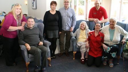 Back row from left: Jan Davison, Lyncroft Care Home manager, Sarah Vick, Wisbech Day Nursery manager