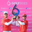 Lucas Bjerregaard and Thorbjørn Olesen of Denmark pose with the trophy after winning the final match
