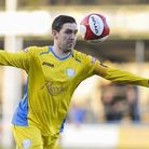 Richard Bunting wearing the captain's armband during his spell under Gary Setchell at King's Lynn To
