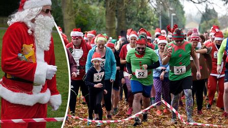 Did you see 40 Santas running through Wisbech Park?