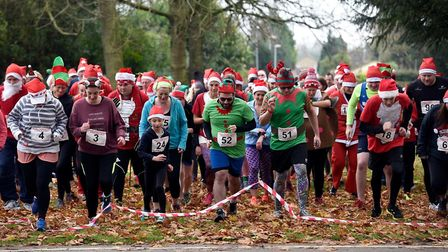 Did you spot 40 Santas running through Wisbech Park?