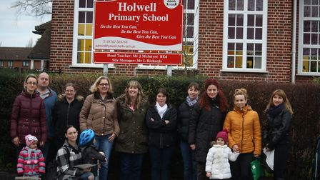 Holwell Primary School parents. Picture credit: Monika Scott.