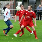 Alex Beck hit Wisbech Town's goal in their draw at lowly Oadby. Photo: Ian Carter