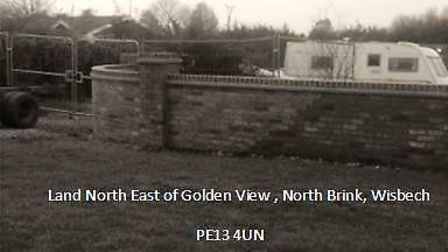 The South Brink, Wisbech, site refused permission for a gypsy family to build two homes