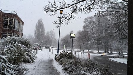 Welwyn Garden City in the snow. Picture: Nina Morgan
