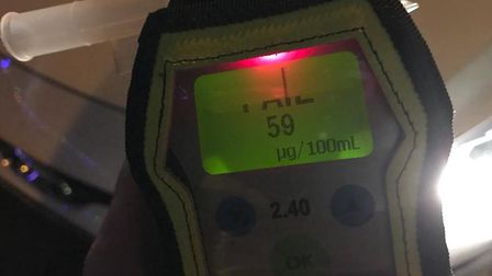 A driver was stopped on nene Quay. They were twice the legal drink drive limit