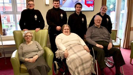 Members of Wisbech Meadowgate Volunteer Police Cadets visited residents at Glennfield Care Home.