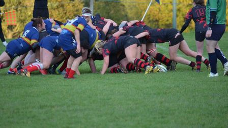 Cuffley Rugby Club's ladies team in action.