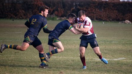 Brad Lack pushes forward for Welwyn. Picture: kevin Lines