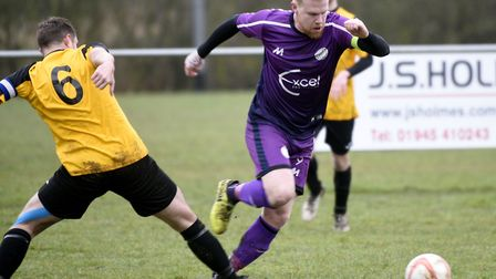 Wisbech St Mary man Nick Davey hit a hat-trick as they won at Needham Market Reserves. Picture: IAN