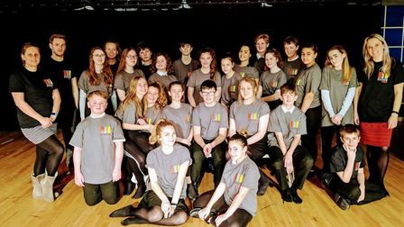"""The cast and crew of """"Station Road"""" premiering at Sir Frederic Osborn School in February. Picture: R"""
