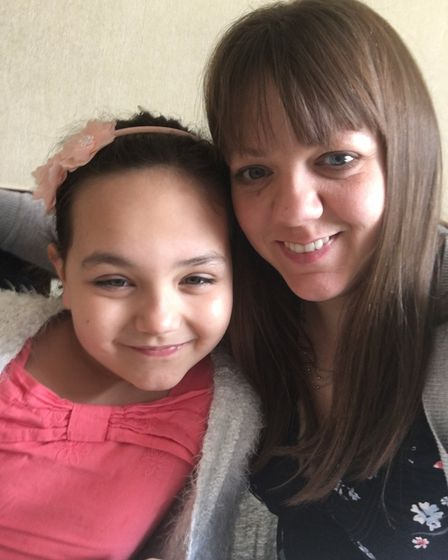 Joanne Wharf, 33, had a stroke in 2015 whilst driving her six-year-old daughter Ella, home from scho
