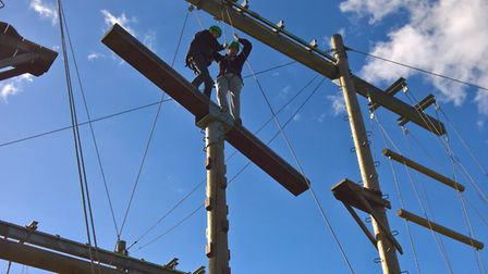 Wisbech Prince's Trust students on a team-building week of problem-solving and challenges