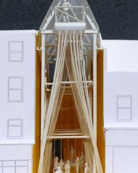 The Gap in Wisbech - Artists impression - model of The Gap.