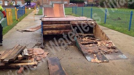 Most of the skate park in Waterlees has been removed after showing signs of wear and tear. Now a cam