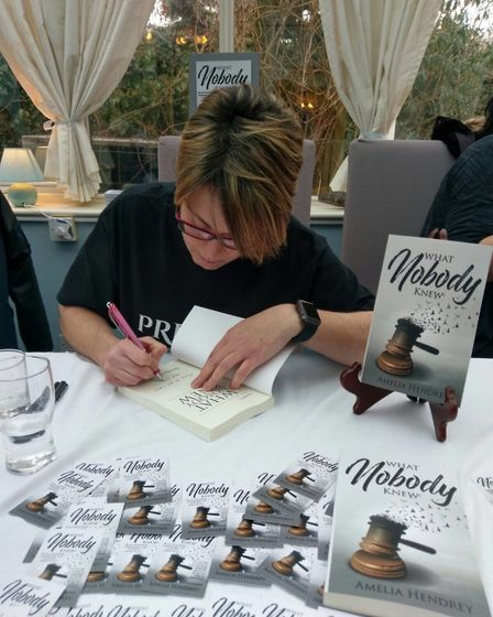 Amelia Hendrey at her book signing in Kimpton. Picture: Supplied.
