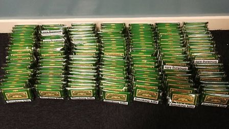 Some of the counterfeit tobacco seized by officers. Picture: Norfolk Constabulary