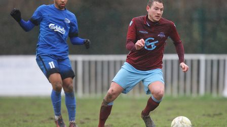 WGC V Oxhey Jets - Dave Corran in action for Welwyn Garden City.Picture: Karyn Haddon.