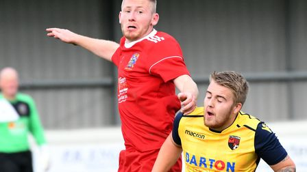 Luke Wilson is back for Wisbech Town when they face Leicester Nirvana. Picture: IAN CARTER