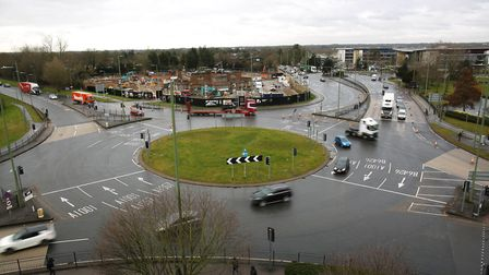 The Comet Hotel roundabout, Hatfield. Picture: Danny Loo