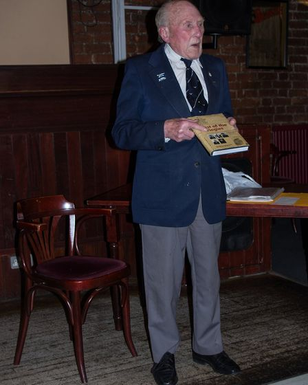 Lancaster bomber Henry Wagner, 94, was the guest at the March meeting of the Wisbech Business And Pr