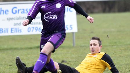 Jack Friend scored for Wisbech St Mary against Leiston Reserves. Picture: IAN CARTER