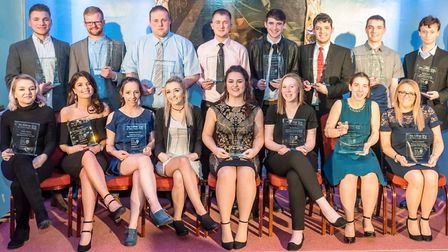 The 18 College of West Anglia apprentice of the year award winners