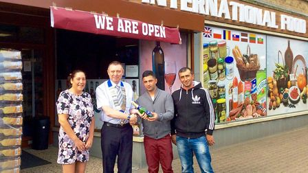 The Wisbech and District Chamber of Commerce team welcome the Baltic International Food shop to Wisb