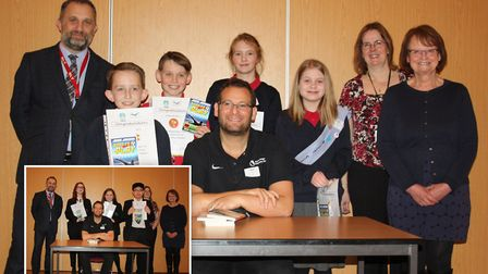 Winners of the Wisbech Reads Writing Competition met with author Dan Freedman.