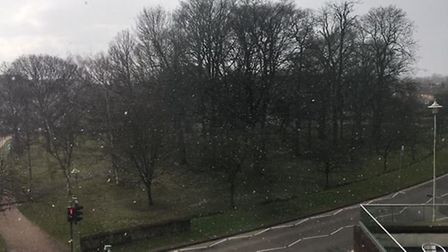 The first light snowfall over Welwyn Garden City. Picture: Archant