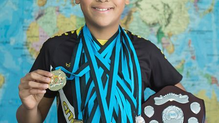 Ely St Mary's CoE pupil, Maximilian Veiga, named 'Top 11-year-old boy' at a swimming competition in