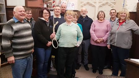 Wisbech St Peter's and St Paul's Church are looking for new bell ringers - Martin Slough (fourth fro