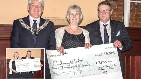 Members of the Wisbech Business and Professional Mens Club donated 3,000 to Meadowgate School during