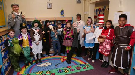 Holwell Primary School key stage one and two pupils dress up as their favourite book characters to c