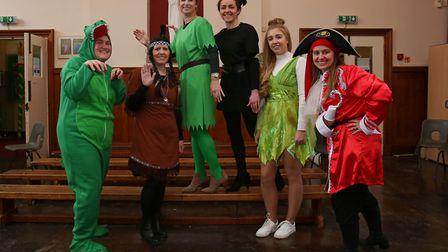 Welwyn St Mary's Primary School office staff dress up as characters from Peter Pan to celebrate Worl