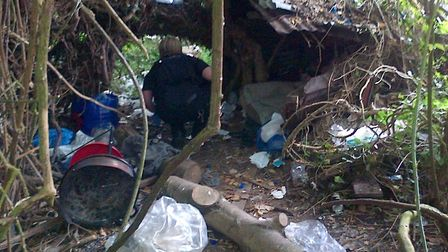 Rough sleeping in Harecroft Road is nothing new, these are images released by police of a rough slee