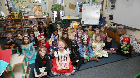 Harwood Hill School reception pupils dress up to celebrate World Book Day 2018. Picture: Danny Loo