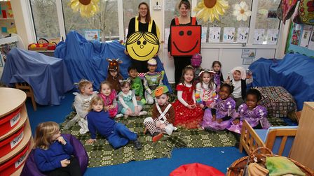 Harwood Hill School nursery pupils dress up to celebrate World Book Day 2018. Picture: Danny Loo