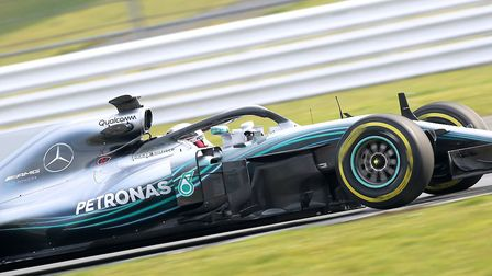 Lewis Hamilton driving the F1 W09 EQ Power+ at Silverstone [Picture: Steve Etherington for Mercedes-