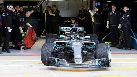 The presentation of the Mercedes F1 W09 EQ Power+ at Silverstone [Picture: Steve Etherington for Mer