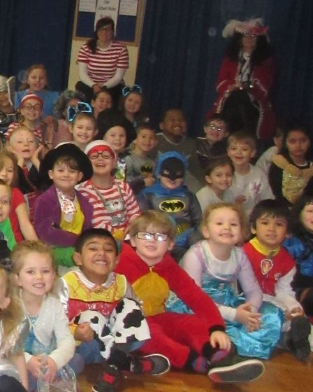 St Mary's Church of England Primary School pupils all dressed up for World Book Day 2018. Picture: S