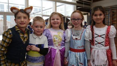De Havilland Primary School year 2 pupils dressed as characters from their favourite books to celebr