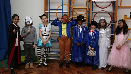 De Havilland Primary School year 4 pupils dressed as characters from their favourite books to celebr